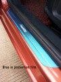 Tampas de cromo de aço inoxidável do peitoril da porta threshold placa scuff para Ford Focus Fiesta 2012 2013 2014 2015 car styling acessórios