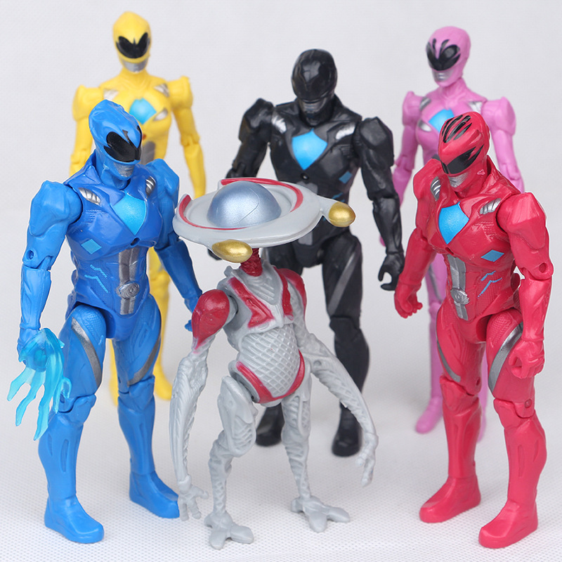 Christmas Gifts Power Ranger Model Action Figures Boy Toys 6pcs/set Dolls Led Light Power Ranger 2017 new 1 6 1 6 12 action figures g43 sinper rifle tactical gun christmas gift free shipping boy toy birthday present
