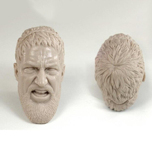 1/6 Sparta 300 the King Open Mouth Version Unpainted Head DIY Models