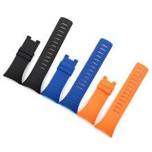 Купить с кэшбэком Rubber strap men's watch accessories pin buckle for Suunto core outdoor sports waterproof bracelet men watch band