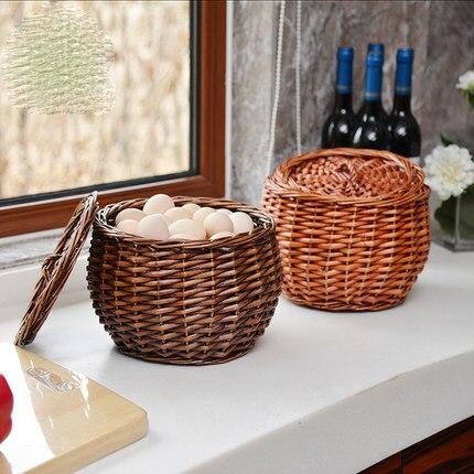 Rotin panier de rangement en osier panier à œufs en bambou panier et corbeille de fruits