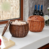 rattan storage basket wicker shopping basket bamboo egg basket and fruit basket