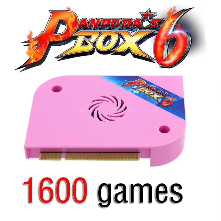 1600 IN 1 Pandora Box 6 Arcade Board 1300 in 1 Multi board support  HDMI/VGA/CGA Pandora Arcade Machine Cabinet Can add games