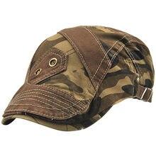 d00bc9bccba20 JAMONT hombres mujeres algodón boinas Newsboy Caps sombrero de sol  camuflaje plana Boina tapa exterior sombreros