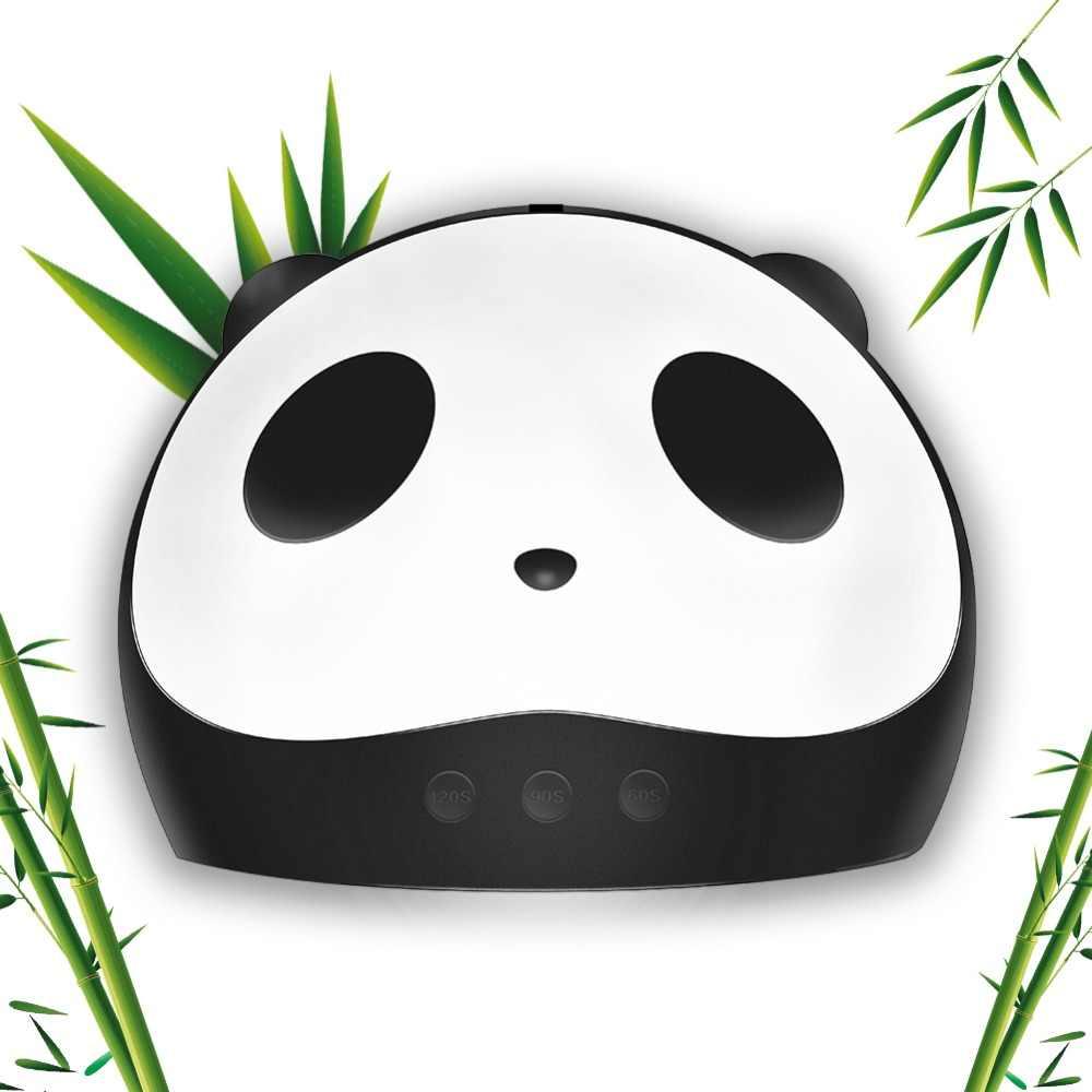 Lámpara Led de 36W Panda USB para secador de uñas para lámpara de curado Uv para manicura de doble Luz de movimiento automático secador para lámpara Uv de uñas