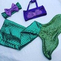 2018 Nouvelle arrivée Mode Enfants Filles vêtements Baignade Sirène Queue Bikini Set Enfant Bébé Fille Vêtements Ensemble D'été Outfit 3 PCS
