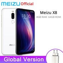 Resmi Küresel Sürüm Meizu X8 4 GB 64 GB Akıllı Telefon Snapdragon 710 Octa Çekirdek 6.15 inç 20MP Ön Kamera 3210 mAh Pil