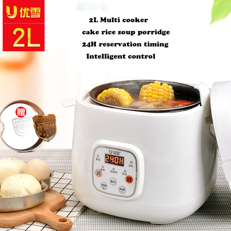 Reservation Intelligent Mini Electric Rice Cooker Mini Automatic Timing Cake Soup Porridge MultiCooker Dimension Heating Machine цена