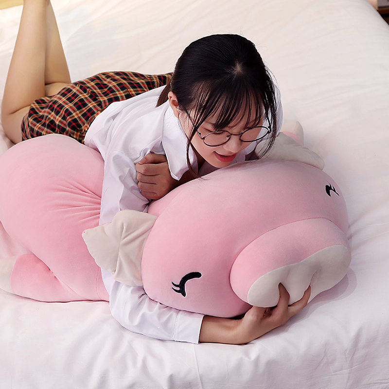 kawaii cartoon pig plush toy doll big stufefed fat pink pigs dolls sleeping pillow for children girls gift 43inch 110cm DY50445 (9)