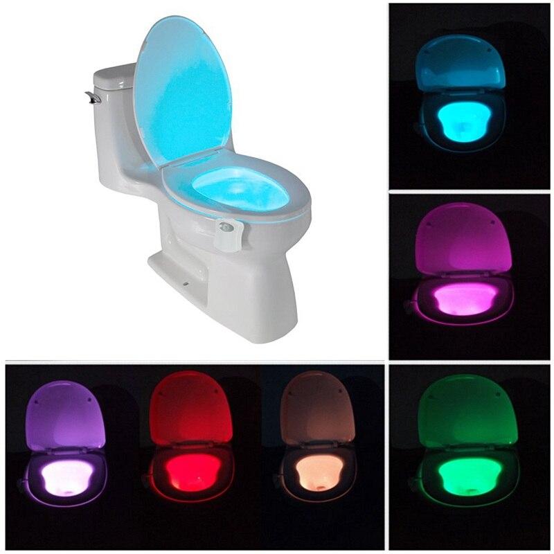 8 Color Led Bathroom Emergency Light Night Light Motion Sensor Toilet Hanging Lights Human Body Sensor