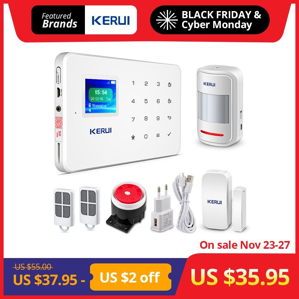 KERUI G18 inalámbrica GSM sistema de alarma de seguridad DIY Kit de Control de APP con Dial Auto Detector de movimiento de alarma antirrobo Sensor sistema de