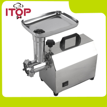 ITOP Home Meat Mincer 140W Electric Meat Grinder Stainless Steel Body Silver Vegetable Chopper