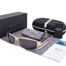 Barcur Мода вождения Защита от солнца Очки для Для мужчин поляризованных солнцезащитных очков UV400 марка защиты Дизайн очки высокое качество Óculos