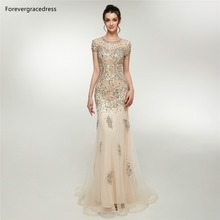 Forevergracedress Champagne Prom Dresses 2019 Mermaid Jewel
