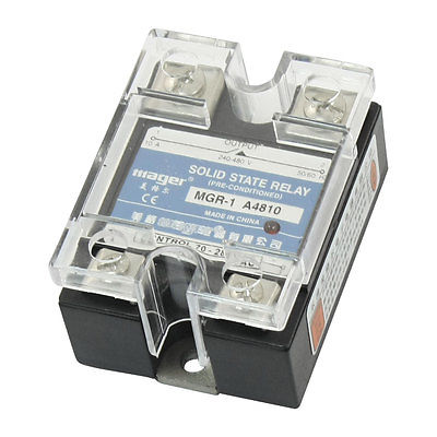 AC to AC Clear Cover Single Phase Solid State Relay 70-280V 240-280V 10A MGR-1 A4810 4 20ma to ac 28 280v 25a one phase 35mm din rail socket solid state relay