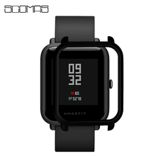 SCOMAS Multicolor Slim PC Protective Frame Cover for Xiaomi Huami Amazfit Bip Bit Youth Watch Protector Shell Cases Accessories