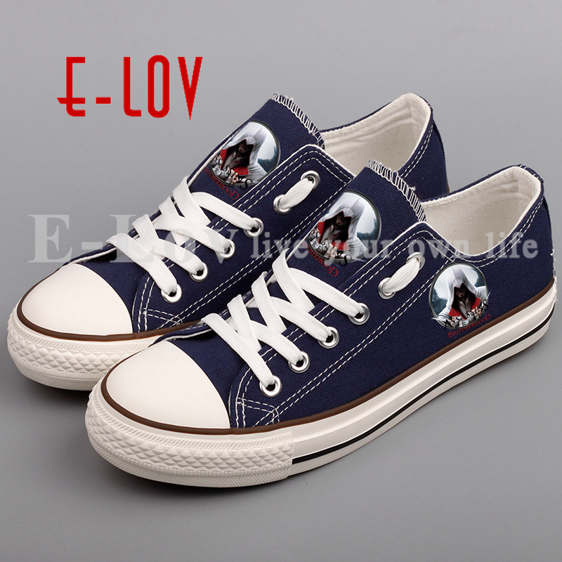 Printed assassins creed hip hop casual shoes fashion girls graffiti printed casual shoes unisex women shoes canvas shoes zapatos