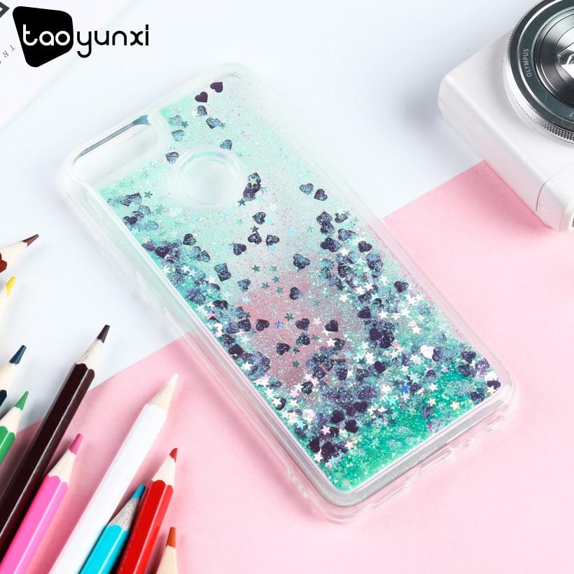 TAOYUNXI Liquide Glitter Cas Pour L'honneur 9 Lite Cas Silicone Dynamique Quicksand Couverture Pour Huawei Honor 9 Lite Couvre La Peau fundas