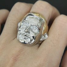 Maat 8-13 Mode Mode Golden Cool Man Ring 316L Rvs Man Goud Haar Man Ring(China)