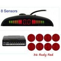 Auto Parking Sensor LED Display Monitor Parktronic Sensor 8 Sensors Car Detector 44 Colors Available Backup