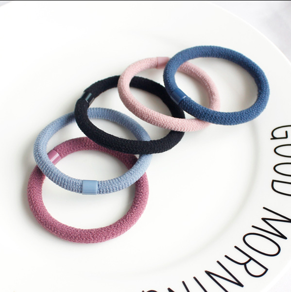 (10pcs/lot) Fashion Women Hair Accessories Ladies Not To Hurt The Hair Rubber Elastic Rope Colorful Girl's Hairgum