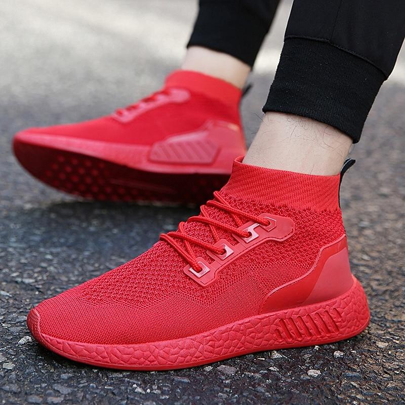 Up Moda Pour Verano Ocio Zapatillas blackred Respirable Casual Lace Chaussures Hombres rojo Adulto Cómodo Zapatos Hommes verde Negro gwpIqXPxH