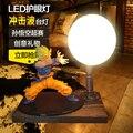 KNL ХОББИ Dragon Ball LED настольная лампа модели взрыва ручной Король Обезьян Глаз Blaster led творческий подарок на день рождения бесплатно доставка