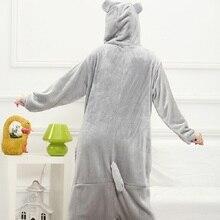 Kigurumi Women Rainbow Unicornio Pijama Full Flannel Totoro Pajamas Pyjamas Adult Costumes Sleepwear Home Clothing Plus Size