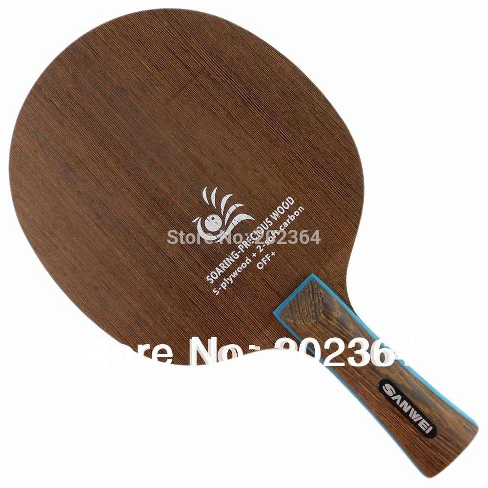 Sanwei H 3 (H-3, H3) Wing-2 SOARING-PRECIOUS WOOD (Loop / Attack) OFF+ Table Tennis Blade for PingPong Racket