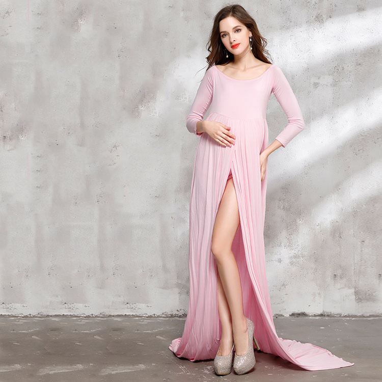 Plus Size XL Maxi Dress for Photography Pink and Red Maternity Dress for Photo Shoot Maternity Photography Props two by vince camuto new red blue drawstring women s size xl maxi dress $129