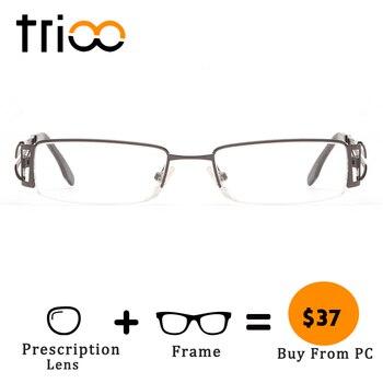 a4056e3f2c Gafas de graduación de TRIOO mate Metel Cool para hombres y mujeres, gafas  transparentes antirayos azules, menos gafas fotocromáticas