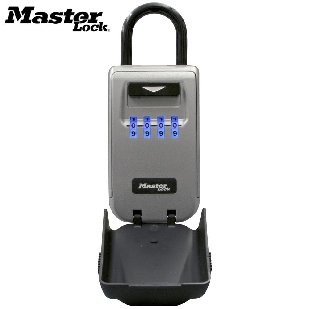 Master lock ao ar livre chave de segurança caixa de armazenamento chaves cadeado uso light up mostradores senha bloqueio chaves gancho caixas organizador de segurança