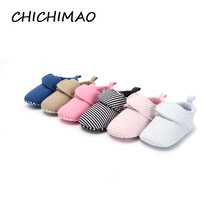 2018 Unisex Baby Girl Shoes Boy Booties For Newborns Sole Classic Floor 0-18 Months Soft Toddler Crib First Walkers(China)