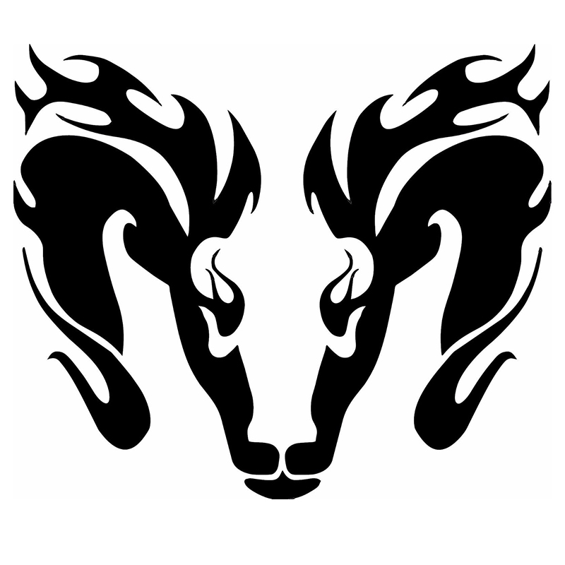 New Flaming Dragon Head JDM Cool Graphic New Colors Sticker For Car Window Door Truck Bumper Motorcycle Die Cut Vinyl Decal