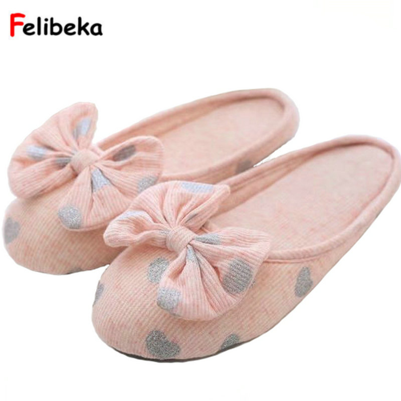 Cotton Bow Women's Shoes Breathable Slides Home Summer Indoor Spring House Women Slippers ladies millffy japanese summer ladies flats cotton bow home slippers indoor slippers