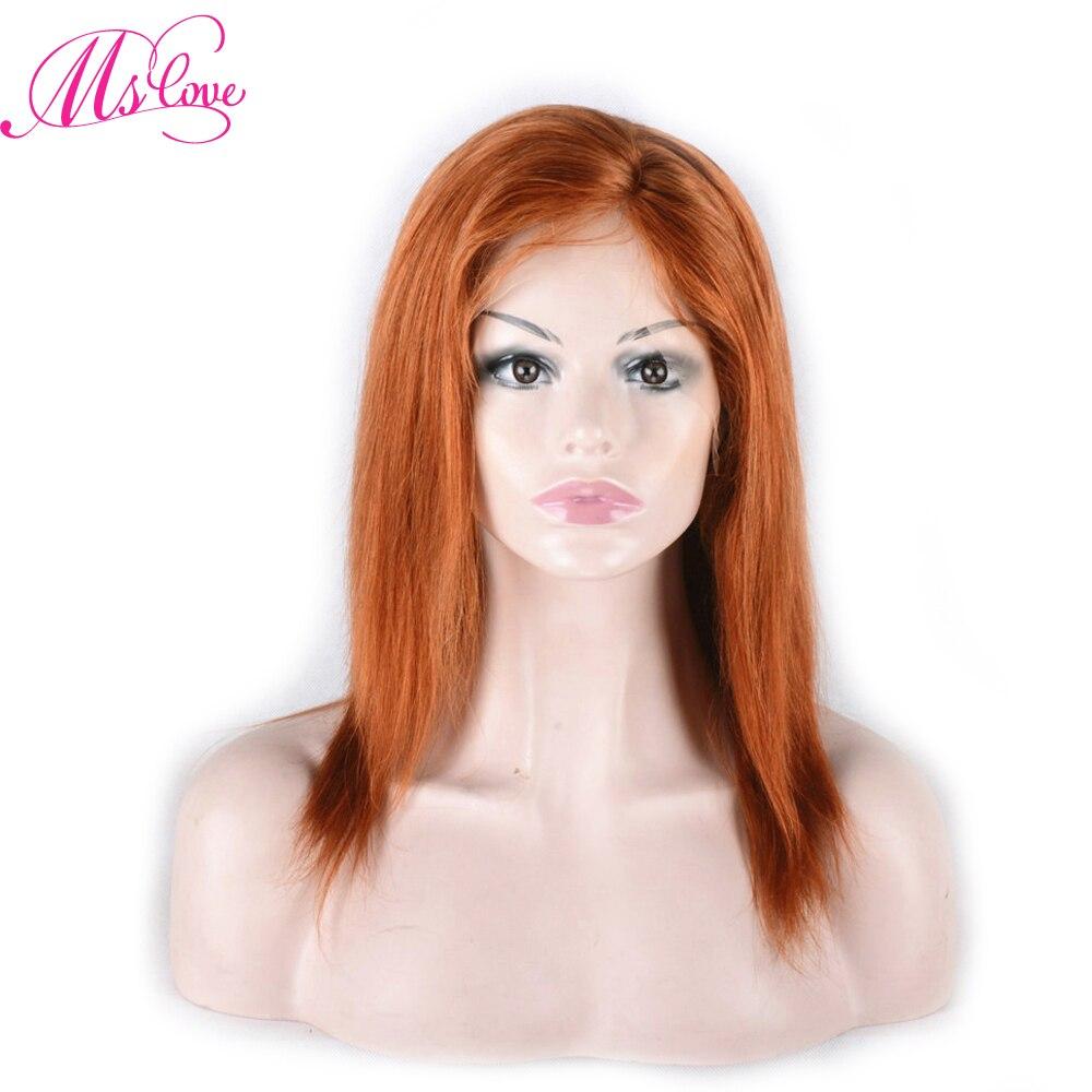 Ms Love perruques de cheveux humains #350 couleur droite brésilienne dentelle partie perruque pré plumé Remy cheveux livraison gratuite
