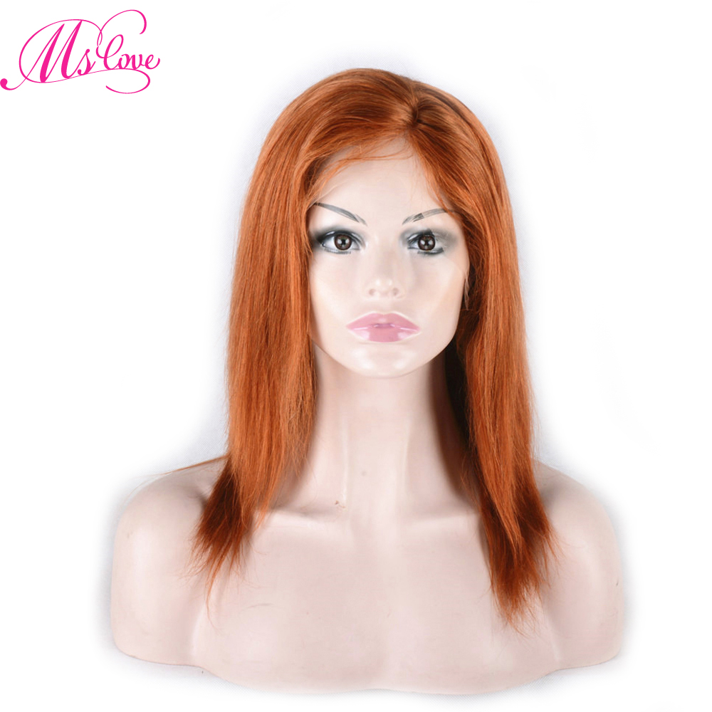 Ms Love Human Hair Wigs #350 Color Straight Brazilian Lace Part Wig Pre Plucked Remy Hair Free Shipping-in Human Hair Lace Wigs from Hair Extensions & Wigs    1