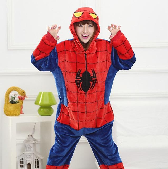 fc0634c702 Halloween Party Cosplay Costumes Unisex Pyjamas Adult Pajamas Onesie Men  Women Batman Superman One Piece Sleepsuit Sleepwear