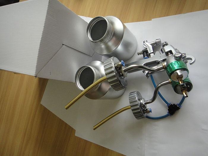 SAT1200 topeltdüüsiga pihustuspüstol matt-matt-autovärvi - Elektrilised tööriistad - Foto 4