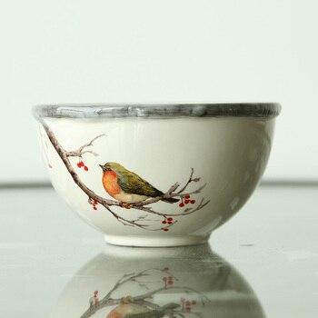 Tableware rural wedding housewarming gift Baiyun creative glaze painted ceramic bowl of Tujia