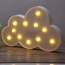 1Pc Bedroom Led Night Light Lamp Cute Cloud Shape Lamp Home Kids Room  Decoration Table Lamp Hot
