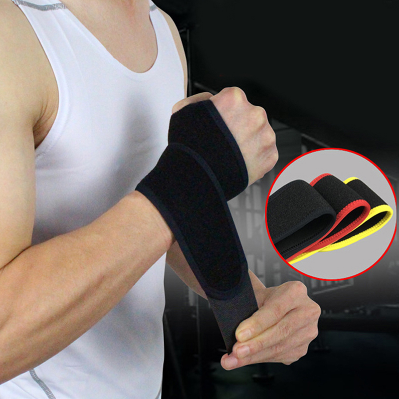 Men Women Wrist Support Adjustable Wristband Sports Safety Weightlifting Badminton Tennis Wrist Brace Wrist Protection