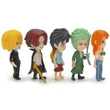 5pcs Mini Pop Sanji Luffy Zoro Nami 4.5cm