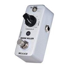 MOOER Mini Pedal de efecto guitarra con reducción de ruido, Mini Pedal de efecto Bypass verdadero de 2 modos
