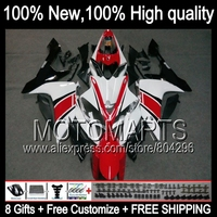 Body !Kit For YAMAHA Red white YZF R1 07 08 YZF R1 YZF1000 07 08 JK102220 YZFR1 Red white blk YZF 1000 07 08 2007 2008 Fairing