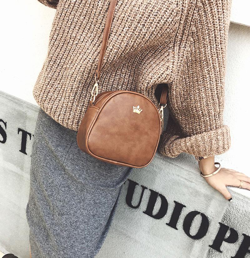 Mara's Dream 2019 Fashion Women Handbag Messenger Bags PU Leather Shoulder Bag Lady Crossbody Mini Bag Female Crown Evening Bags 7