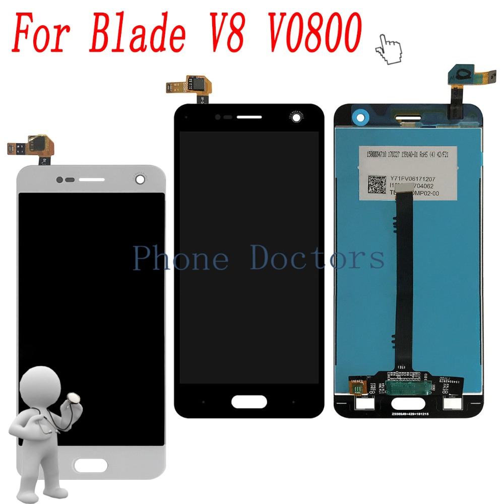 5.2'' Full LCD DIsplay + Touch Screen Digitizer Assembly For ZTE BV0800 Blade V8 V0800 ; New ;100% Tested