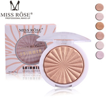 Miss Rose 12 color High-gloss white concealer cheeks strengthen profile shaping powder cake beauty makeup