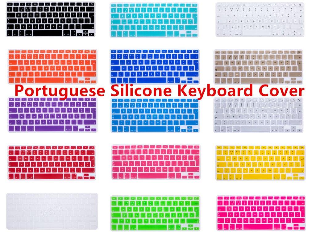 Portuguese Language EU/UK Silicone Keyboard Skin Cover Protector For All MacBook Pro Retina Air 13.3 15.4 17 inch 13″ 15″ 17″