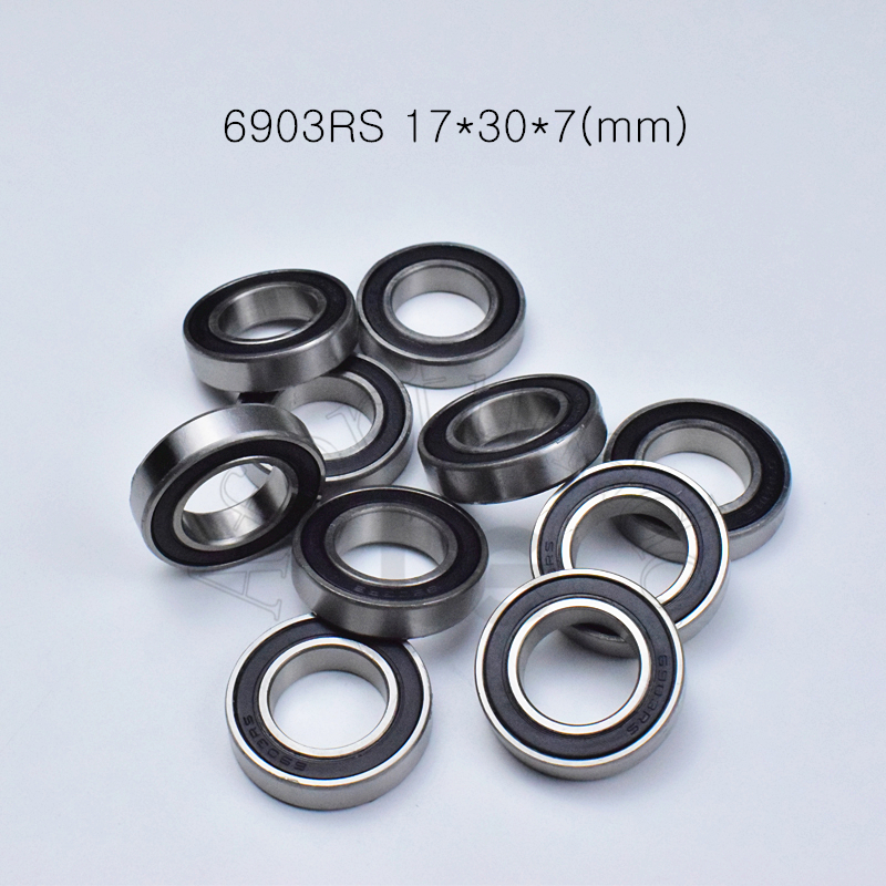 6903RS 17*30*7(mm) 10piece Bearing Abec-5 Rubber Sealed Bearing Thin Wall Bearing 6903 6903RS Chrome Steel Bearing